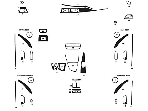 Rdash Dash Kit Decal Trim for BMW 4-Series 2014-2016 - Matte (Silver)