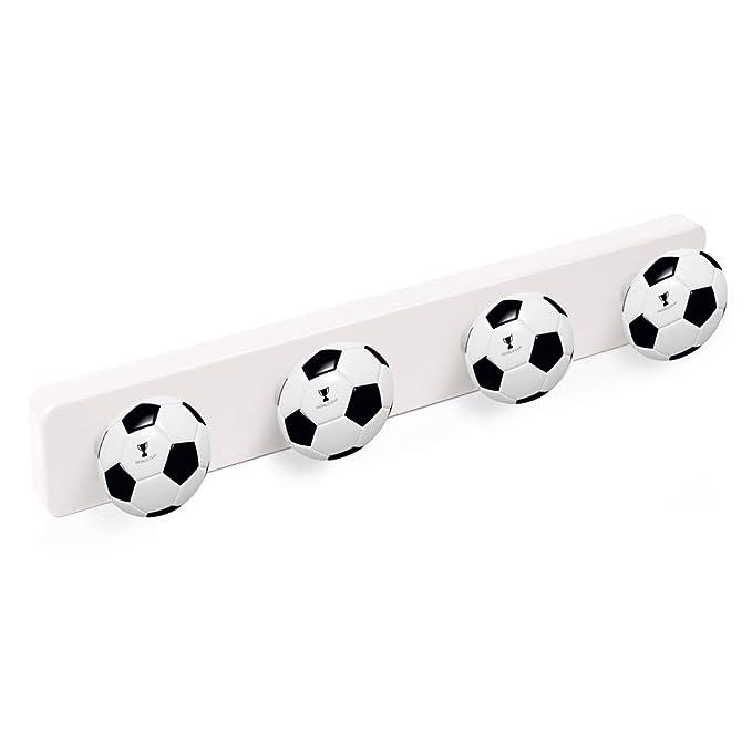 POMOLINE Percha Pared Resina ABS Pomos Futbol 410x60MM ...