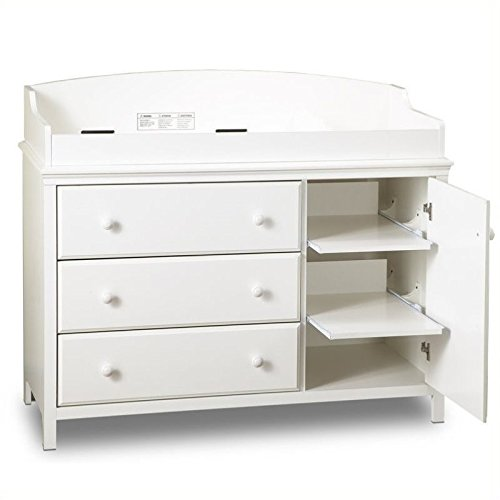 Pemberly Row 3 Drawer Wood Changing Table in White by Pemberly Row