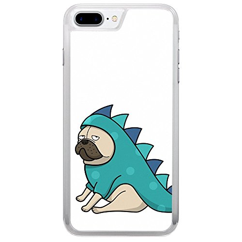 Pugs Wearing Halloween Costumes (Pug Wearing Funny Dragon Halloween Costume Dog Puppy Cartoon Drawing Apple iPhone 7 Plus (5.5 inch) Phone Case)