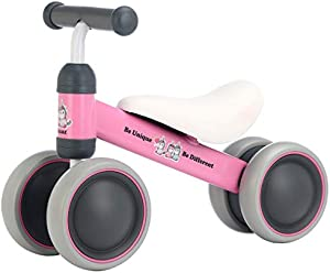 BEKILOLE Baby Balance Bike - Baby Bicycle for 12-24 Months, Sturdy Balance Bike for 1 Year Old, Perfect as First Bike and Birthday Gift, Safe Riding Toys for 1 Year Old Girl Gifts Ideal Baby Bike