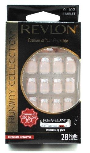Revlon Runway Collection Nails, Medium Length, Starlet, 28 nails