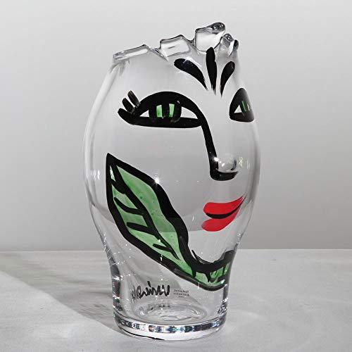Kosta Boda Open Minds Vase, Clear/Green