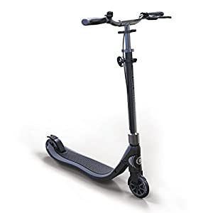Globber Teen One Second Folding Adjustable Height Kick Scooter (Charcoal/Grey)