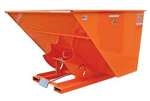 Vestil D-150-HD-ORG-C Self-Dump Hopper HD 1.5 Cubic Yard, 6000 lb. Capacity, Overall L x W x H (in.) 68-3/8