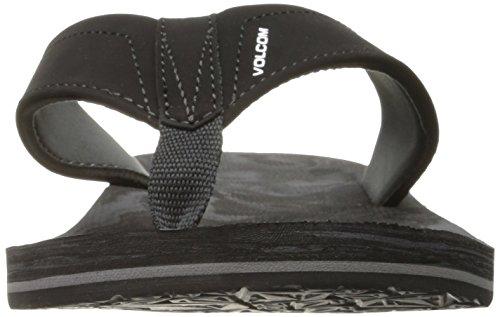 Volcom Flip Flops - Volcom Victor Flip Flops - Black/Charcoal