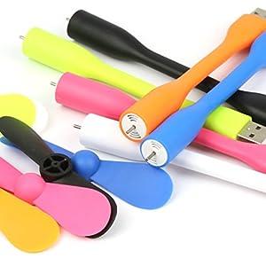 5 Pack Mini Mobile USB Fan Cooler Low Power Fan for Pc Laptop Notebook Netbook Tablet by DMYCO (Multi-Color Random)