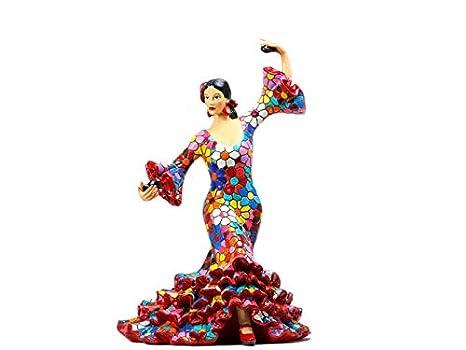 Figura Flamenca Flores en Mosaico. Figura Mosaico. Figura ...