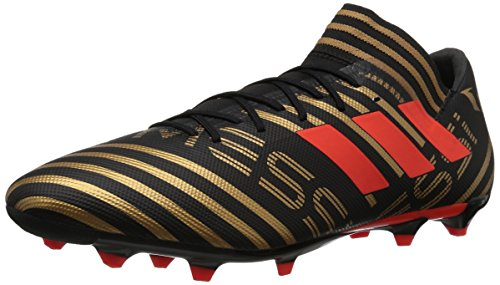 adidas Performance Men's Nemeziz Messi 17.3 FG Soccer Shoe, Core Black/Solar Red/Tactile Gold, 6.5 M US