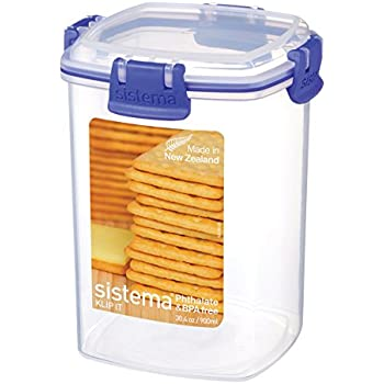 Wonderful Sistema Klip It Collection Cracker Food Storage Container, Medium, 30  Ounce/ 3.75 Cup