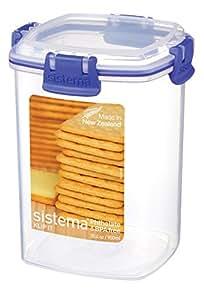 Sistema Klip It 900ml Medium Cracker Container, Clear