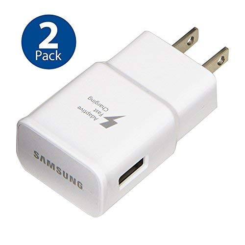 Original Samsung Adaptive Fast Charging Wall Adapter for Galaxy S5 S6 S7 EDGE NOTE 4 NOTE 5 (2 PACK) - Charger Wall Samsung