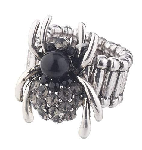 G Ganz H8 Halloween Women's Jewelry Zinc Spider Ring 1.5 inches (Design 1) ()