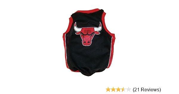 Amazon.com : NBA Chicago Bulls Basketball Dog Jersey, Large : Sports Fan Pet T Shirts : Pet Supplies