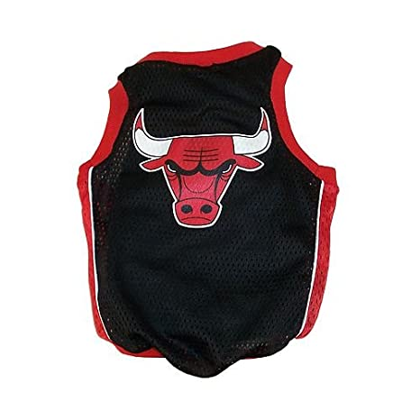 NBA Chicago Bulls Basketball Dog Jersey, Large