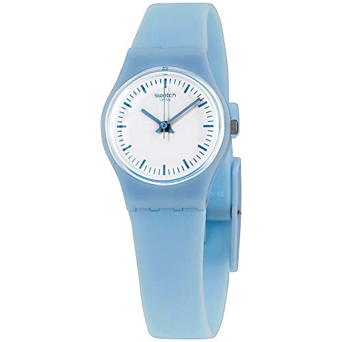 Swatch Originals Clearsky White Dial Silicone Strap Ladies Watch LL119