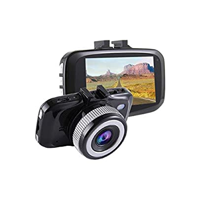 DRAGONHOO Driving Recorder Dashboard Camera Recorder Car Dash Cam with Gravity Sensor, WDR Superior Night Model GPS Enabled Full HD 1920x1080 165 Degree Wide Angle