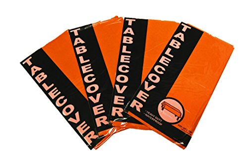 Black Duck Brand Set of 4 Bright Orange Party and Holiday Themed - 54