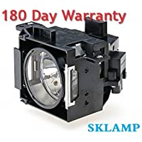 Sklamp ELP-LP30 / V13H010L30 Replacement Lmap Bulb with Housing for Epson EMP-61 EMP-81 EMP-81+ EMP-821 Projectors