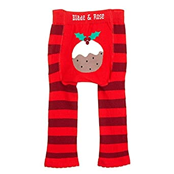 Blade & Rose Christmas Pudding leggings: Amazon.co.uk: Baby
