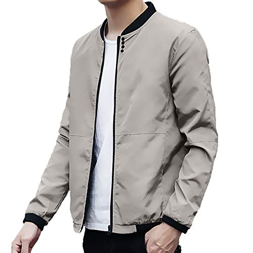 2bae77f6065 Realdo Mens Casual Jacket Clearance Sale Autumn Peacoat Men s Solid  Baseball Coats Slim Sport Outwear Clothing