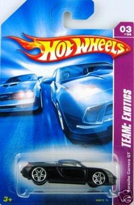 Mattel Hot Wheels 2008 1:64 Scale Team Exotics Black Porsche Carrera GT Die Cast Car #115