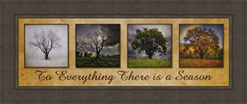 There Is A Season by Lori Deiter 18x42 Winter Spring Summer Autumn Fall Trees Four 4 Seasons Framed Art Print Picture -