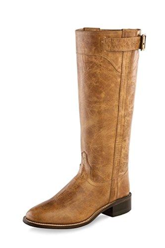 Tan Goodyear West LB1601 Fashion Roper Zip Old Boots Women Tall Fry M 5 OafpA6x