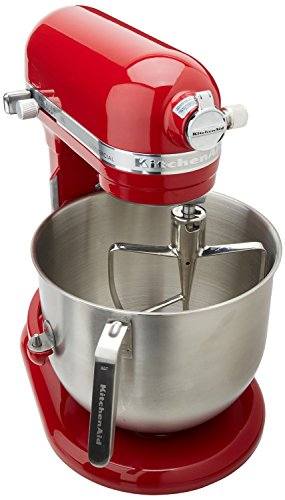 Cook Flat Whisk - KitchenAid (KSM8990ER) 8-Quart Stand Mixer with Bowl Lift (Empire Red)