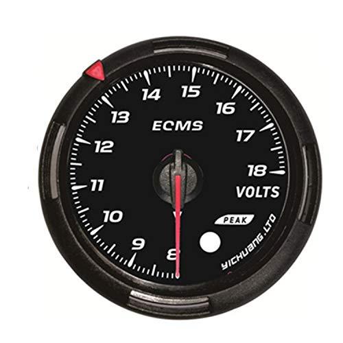 (Car Instruments Universal LED Car Voltmeter 8-18V Voltage Gauge Volt Auto Car Meter 2.5