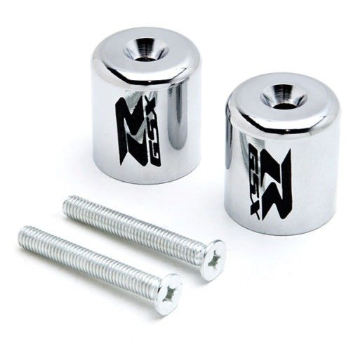 Motorcycle Parts Racing Chrome Rear Caps Plugs Handlebar Protector Grips Bar Ends (Rear End Plug)