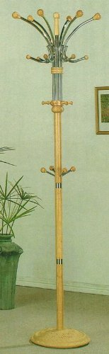 Coat Rack Hat Stand in Natural Finish