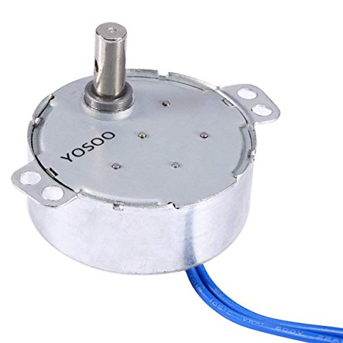 (Turntable Synchronous Synchron Motor 50/60Hz AC 100~127V 4W 5-6RPM/MIN CCW/CW For Hand-Made, School Project, Model)