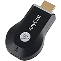 AnyCast M2 Plus Premium Mini Wi-Fi Display Dongle Receiver 1080P Output for HDTV Cellphone Notebook Tablet PC Support Miracast DLNA Airplay for iOS/Android/Windows/Mac Black