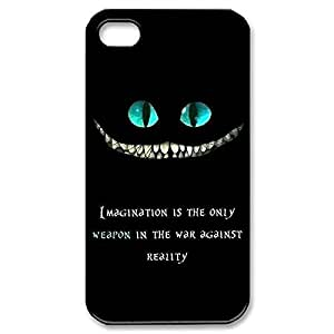 Elegant Design Hard Case Back Cover Case Cheshire Cat Quotes We Are All Mad Here for iphone 5 5s 4G -Black030905