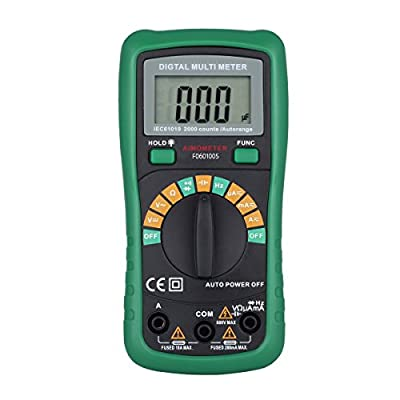 Digital Multimeter Auto-Ranging Capacitance 2000uF Multi Meter DC/AC Voltage Current Resistance Frequency Diode Continuity Tester Backlight