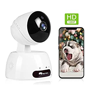 WiFi Pet Camera, Home Security Camera Indoor, Baby Camera Monitor 1080P Indoor Camera with 2-Way Audio, Pan/Tilt/Zoom IP Camera for Baby/Pet/Nanny/Dog Camera, IR Night Vision, Motion Detection, Alexa
