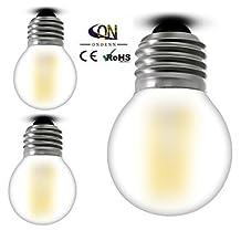 Modern LED Bulbs 3PCS ONDENN E26/E27 4 W 4 COB 400 LM 2800-3200K K Warm White A Dimmable Globe Bulbs AC 100-240 V , 100-120v