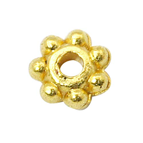 Daisy Shaped Spacer Beads - B.D craft 1000pcs 1mm Tibetan Style Alloy Daisy Flower Spacer Beads Golden Metal Spacers Jewelry Findings Accessories for Bracelet Necklace Jewelry Making