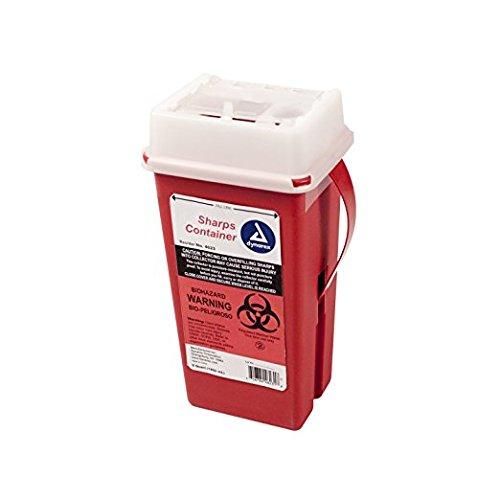 BULK Sharps Container 2 Quart - Plus Vakly Biohazard Disposal Guide (10 Pack)