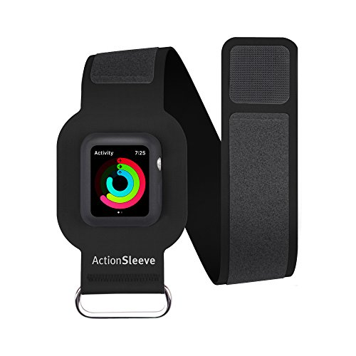 Action Bands - Twelve South ActionSleeve/Armband for 38mm Apple Watch, Black