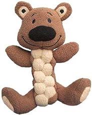 KONG Pudge Braidz Bear Dog Toy, Medium/Large