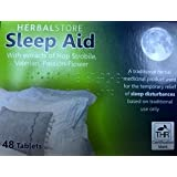 Insomnia Relief Herbalstore Sleep Aid (48) Extracts of Hop Strobile, Valerian, Passion Flower