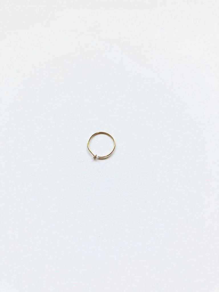 14k Gold Filled Adjustable Metal Hoop Nose Ring - 24 Gauge 5-6mm
