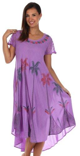 Robe Violet Aquarelle Caftan Palmier rservoir Sakkas 8qAIx