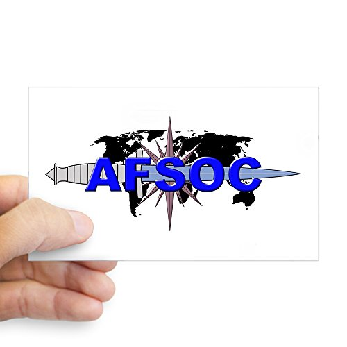 CafePress AFSOC-Black.Png Sticker Rectangle Bumper Sticker Car Decal