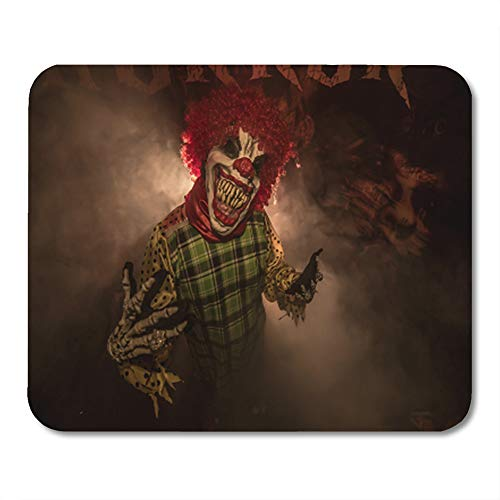Semtomn Gaming Mouse Pad Red Halloween Scary Clown The Suit Costume Horror 9.5