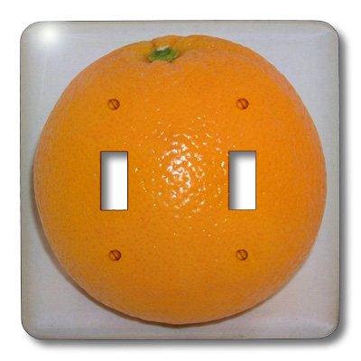 2 Double Light Switchplate - 3dRose LLC lsp_21646_2 Orange White Background Double Toggle Switch
