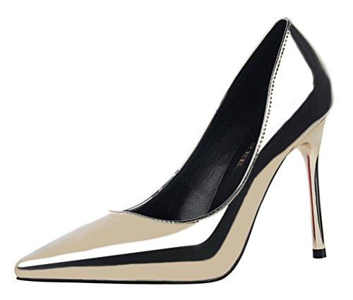 T&Mates Womens Classic Versatile Pointed Toe Slip-on Anti-Slip Stiletto High Heel Basic Pumps Shoes (7 B(M) (Dye Ultra Lite Front)