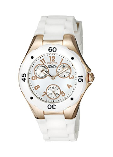 Invicta Angel Multi-Function White Dial White Silicone Ladies Watch 18798